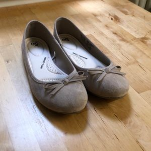 Beige ballet flats with memory foam